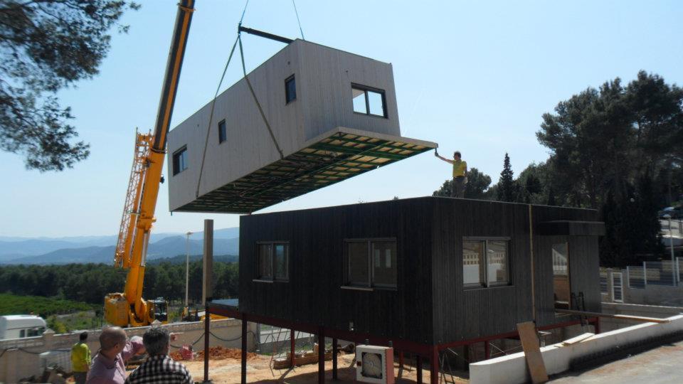 Proceso de construcción de una casa de madera