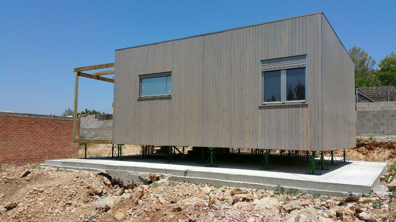 Casa de madera prefabricada blu 55 en barcelona - Estructura metalica vivienda ...