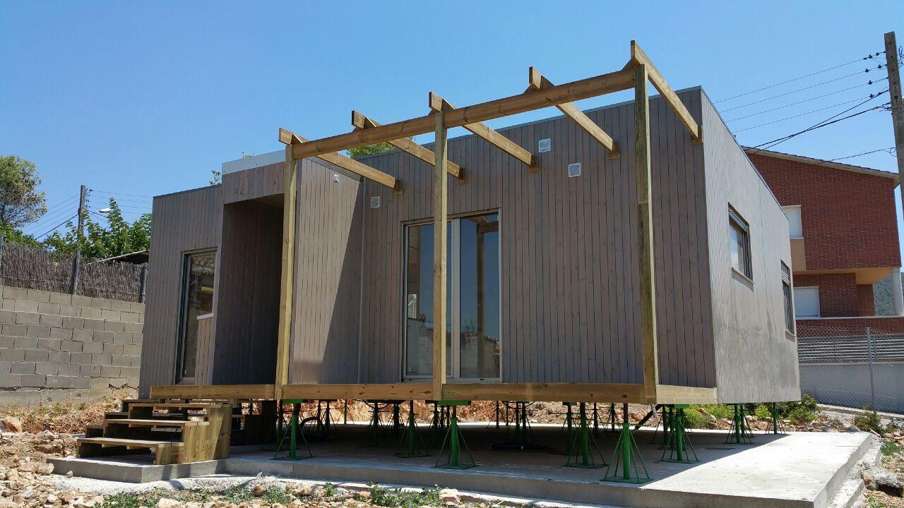 Casa de madera prefabricada blu 55 en barcelona - Casas con estructura de madera ...