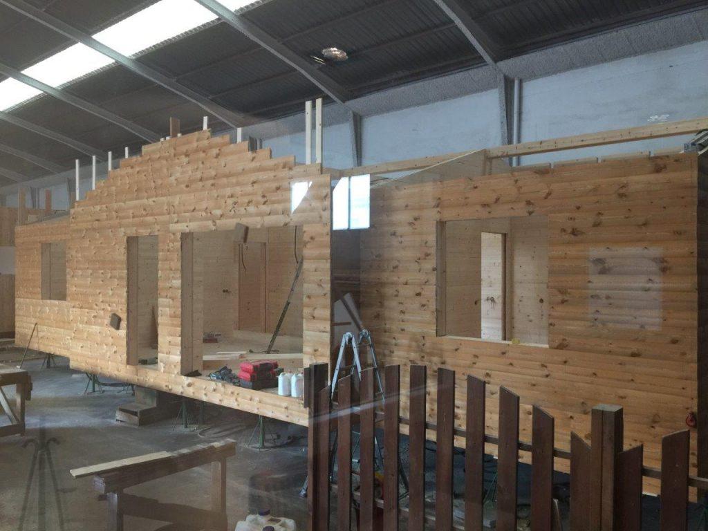 casas de madera en fabrica