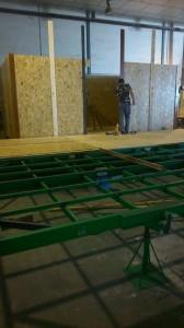 casa de madera en construccion