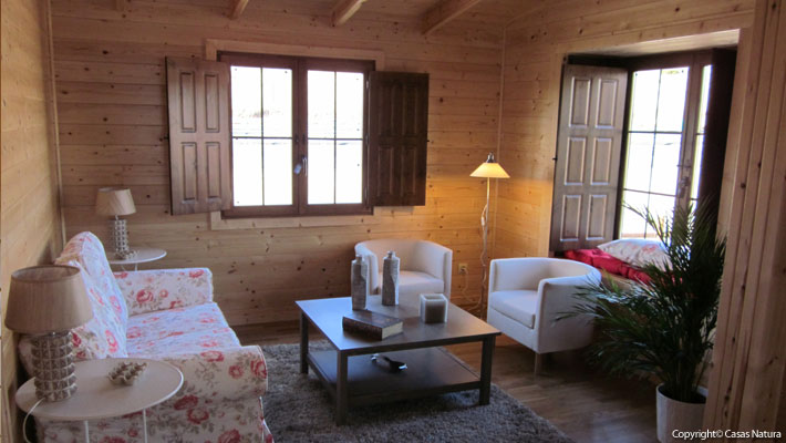 interior casa de madera