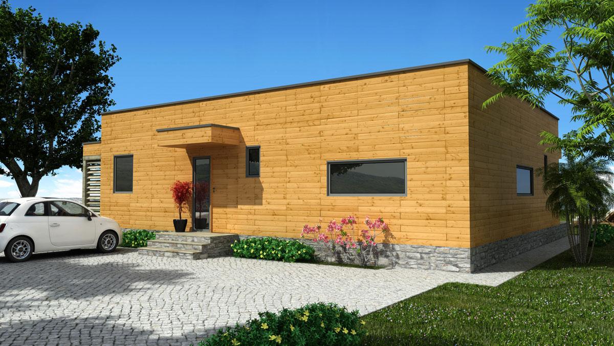 Oferta Casa De Madera Rosso 80 Casas Natura