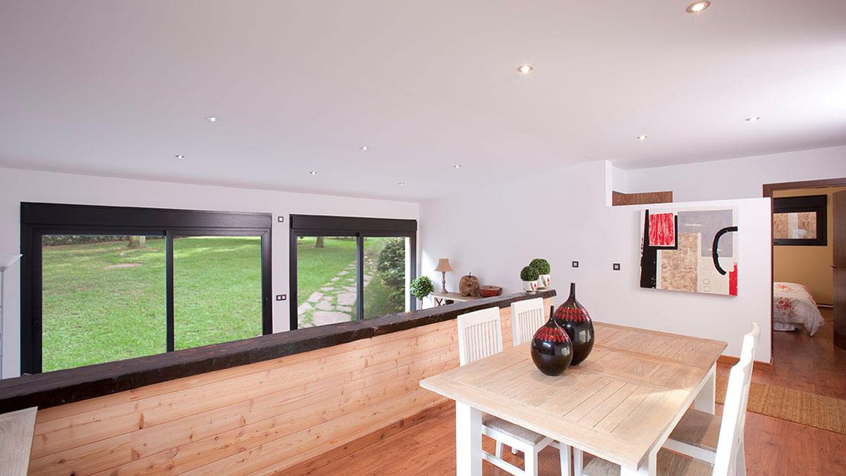 Casas natura casa de madera casa de madera natura rosso 80 - Interior casas de madera ...
