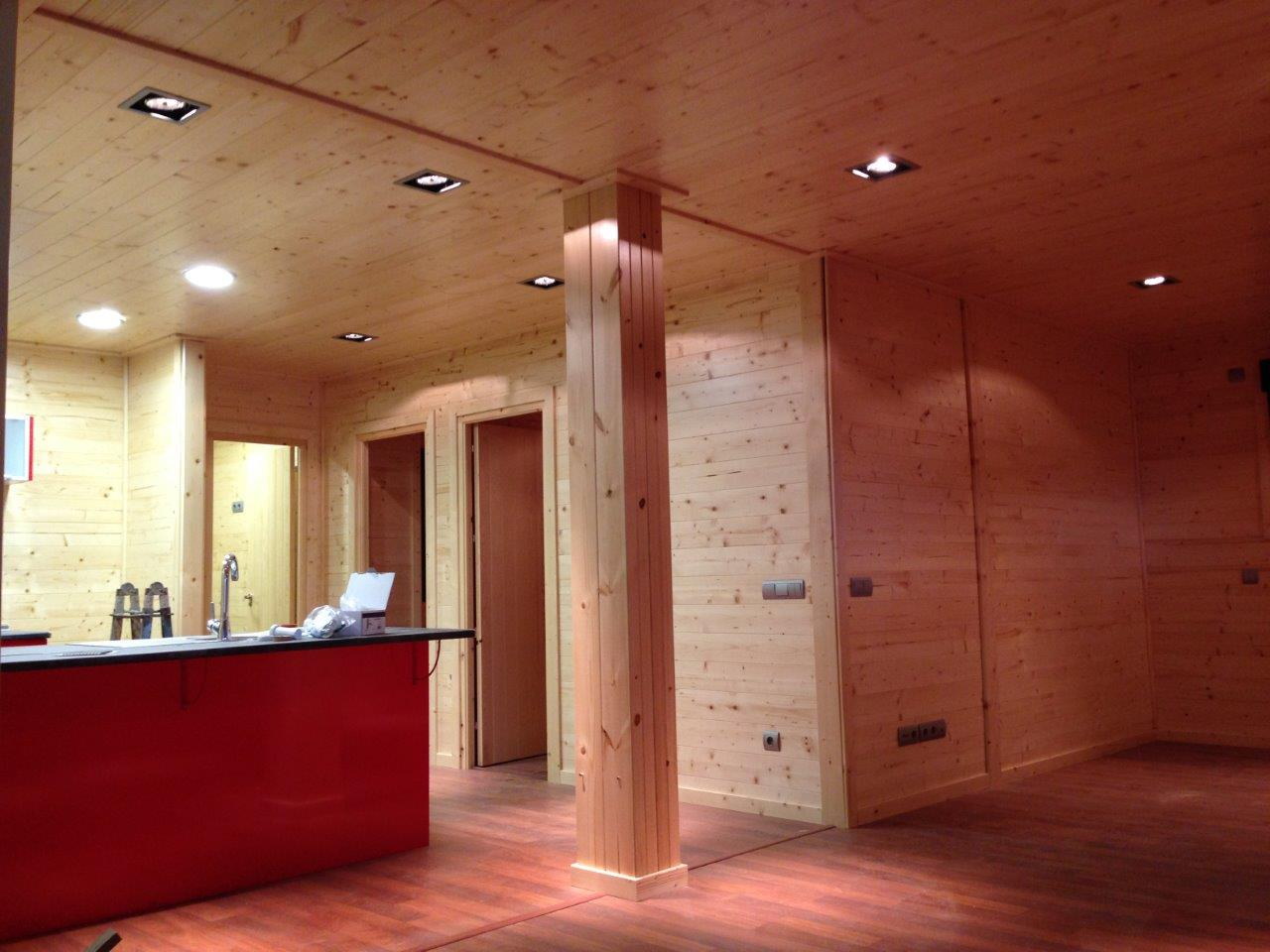 Casas de madera a medida en nuestra f brica - Interior casas de madera ...
